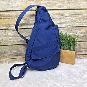 AmeriBag Blue Nylon Shoulder Sling Bag Backpack